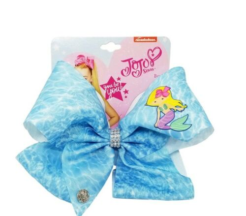 JoJo Siwa Signature Blue Mermaid Rhinestone Summer Hair Bow NWT