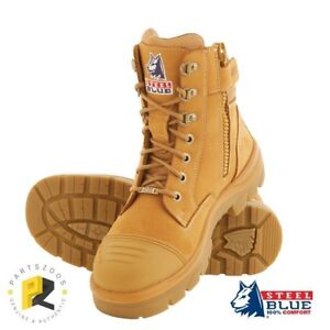 9258b575815 Details about Steel Blue Southern Cross Zip Boots Wheat Safety Toe 312661  Bump Cap