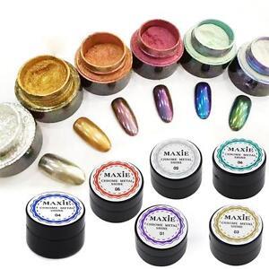 6-COLORS-5g-Box-Glitter-Magic-Mirror-Chrome-Dust-Shimmer-Nail-Art-Powder-Hot-BC