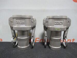 Dixon-C-150-316-Cam-amp-Groove-Type-C-Coupler-Hose-Shank-1-2-034-Lot-of-2-New