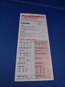 ALLEGHENY-AIRLINES-TIMETABLE-JUNE-1979-PLANE-ADVERTISING-CANADA-FLIGHTS-TRAVEL