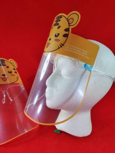 Lot de 2 Sécurité RÉUTILISABLE visière pour enfants Anti Splash anti brouillard 2 set