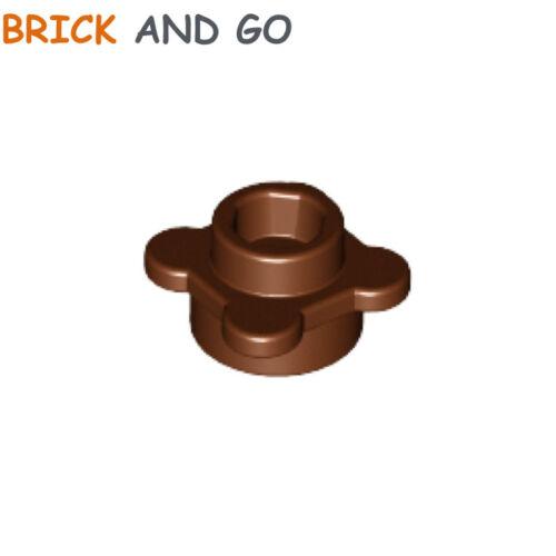 10 x LEGO 33291 Plaque Fleur marron, brown Plate 1x1 Flower NEUF NEW