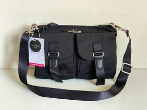 NEW-KIPLING-TESSA-BLACK-5-IN-1-CONVERTIBLE-CROSSBODY-SLING-BAG-WAIST-PACK-CLUTCH