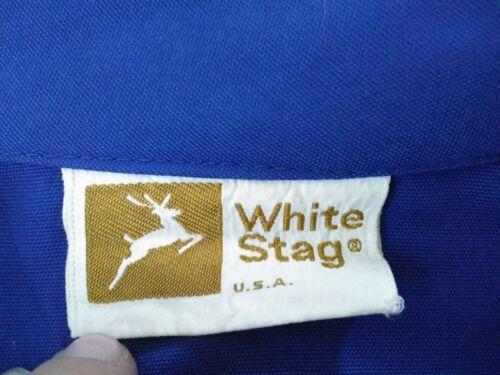 pour bleu Inv Hip Vintage complet Lg s9162 4 poches Stag Femmes Zip White Manteau wzqIaa