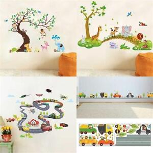 Animal-Tree-Monkey-Removable-Wall-Decals-Stickers-Kids-Baby-Nursery-Room