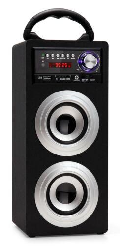 Móvil Bluetooth altavoces USB SD AUX mp3 reproductor radio Box Sound System plata