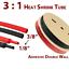 thumbnail 17 - Marine Grade Dual-Wall Adhesive Glue Lined Heat Shrink Tube 3:1 Ratio Black/Red