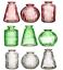 thumbnail 3 - Sass & Belle Set of 3 Glass Bud Vases Amber Pink Glass Flower Vase Pot Holder