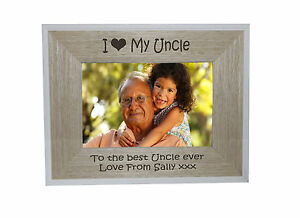 I Heart Love My Uncle 6 X 4 Photo Frame White Edge Wood Frame Free