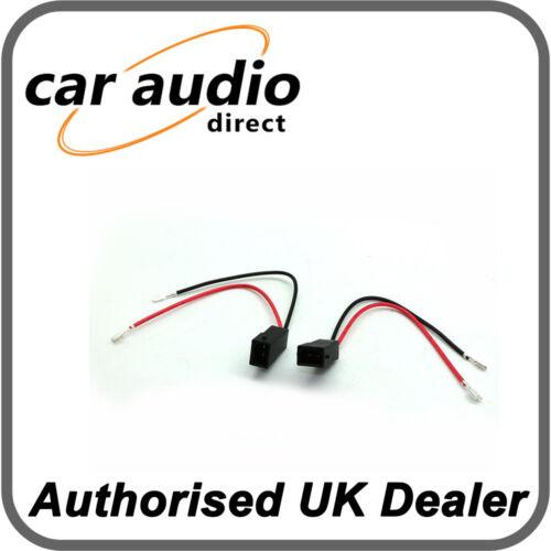 Connects 2 CT55-AU01 adaptador telar de altavoz se conecta Plomo Conectores 1 Par Para Audi