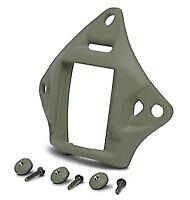 Airsoft Ops Core Helmet Green Fg Od Vas Shroud 4 Nvg Wilcox Pvs 15 18