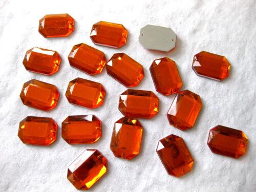St4 30 Acryl-Strass-Glitzersteine,rechteckig,Farbe wählbar,zum Aufnähen,26x18mm