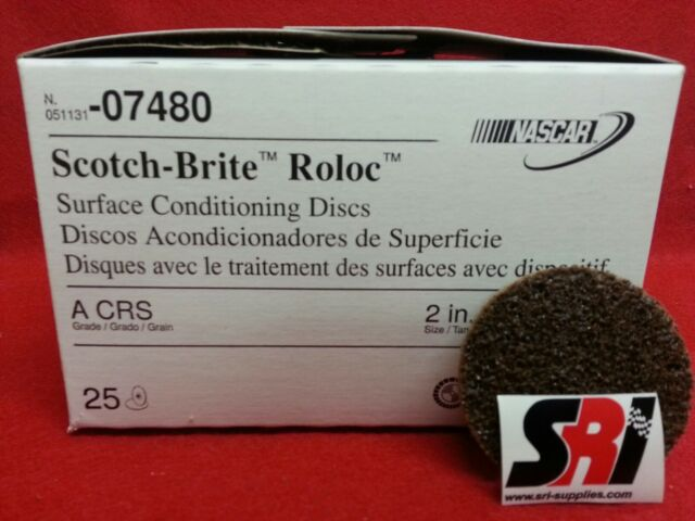 """Lot of Disc 3/"""" 05531 MED. 75 3M Scotch-Brite Roloc Surface Cond"""