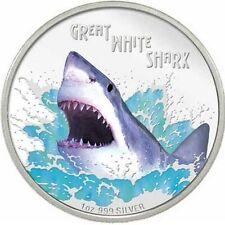 2007 ~ AUSTRALIA ~1~OZ~SILVER~ GREAT WHITE SHARK ~ RARE PROOF ~BOX~ COA ~$288.88