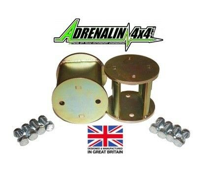 """Land Rover Defender 110 4/"""" inch Spring spacers for suspension lift rear only"""