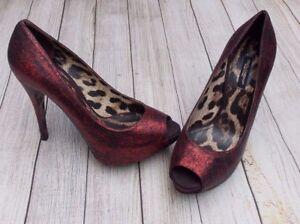 Peep gt;bn Glitter gt;shoes 3 gt;red Dolce Pumps gt;genuine Gabbana gt;£490 Toe 5 gt;heels 5uk gt;36 4qXSwxSt5