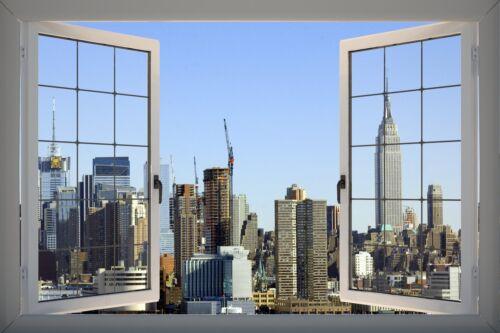 3D Effect PVC Window NYC New York Empire Sticker Wall Poster Vinyl GA19-139