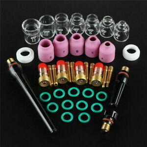 "9 Pcs TIG Welding Stubby Gas Lens #12 Pyrex Cup Kit Set For Tig WP-17//18//26 1//8/"""