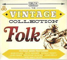 THE VINTAGE COLLECTION FOLK - 3 CD BOX SET - BOB DYLAN, PETE SEEGER & MORE