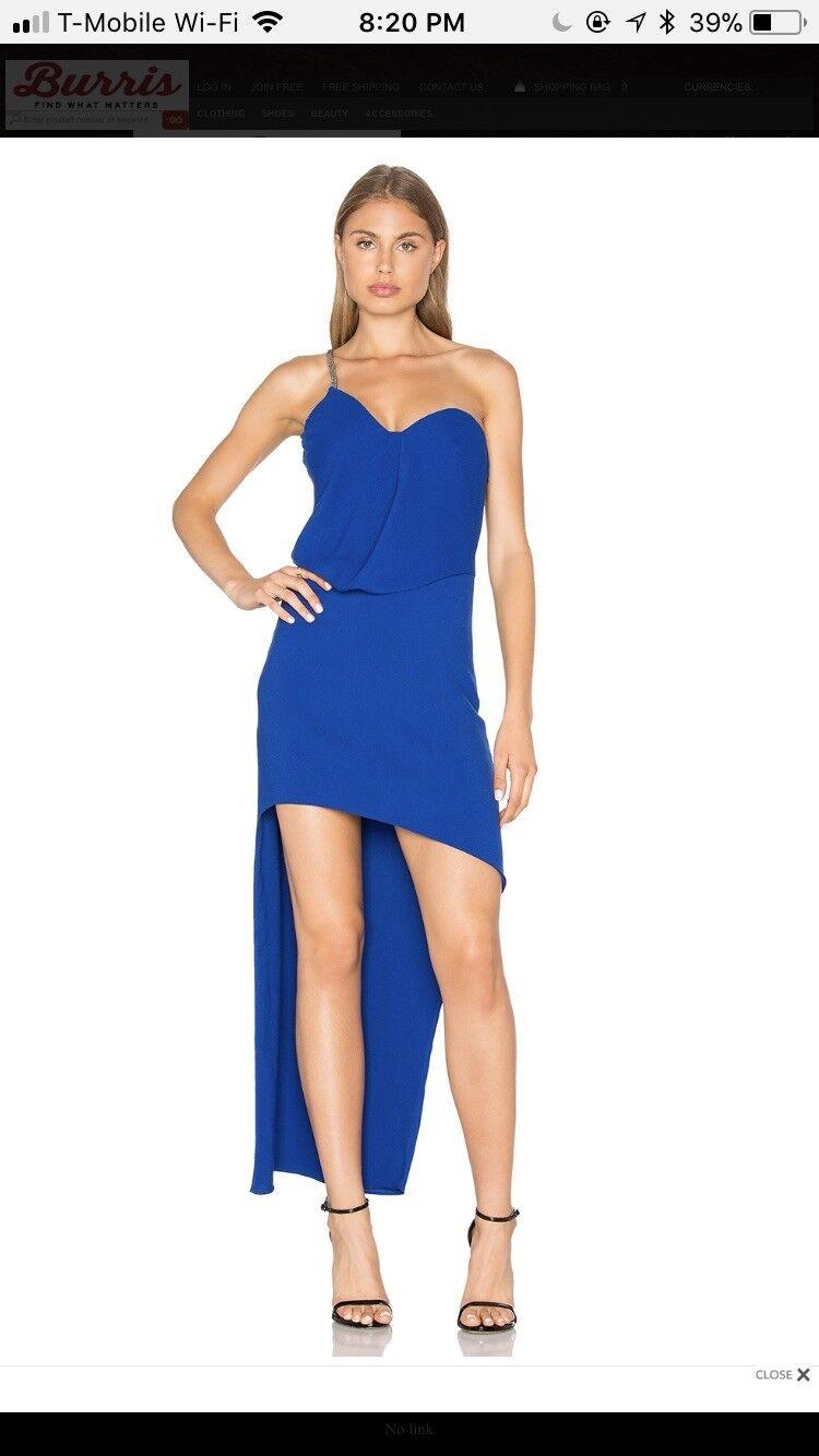 Halston Heritage Royal Blau One Shoulder Dress 0