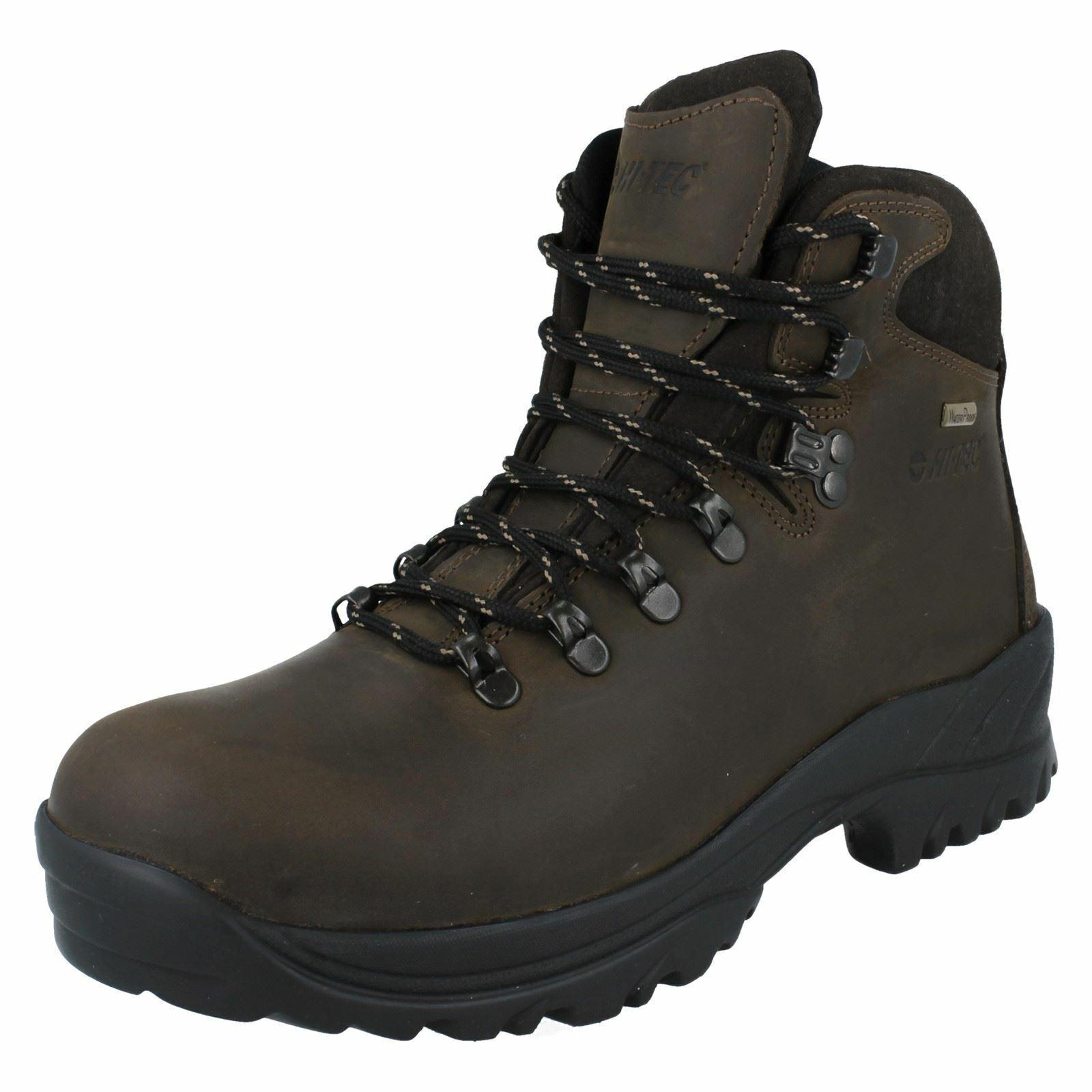 Mens Hi-Tec Leather Waterproof Walking Boots *Ravine*