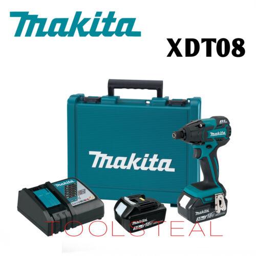 3.0Ah NEUF Makita XDT08 18 V LXT Li-Ion Sans Balai sans Fil Visseuse Kit