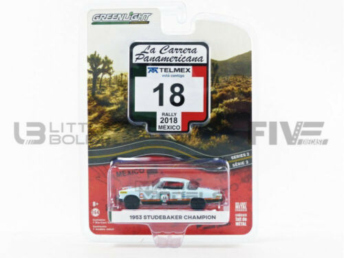 Greenlight Collectibles 1//64 Studebacker campeón Gulf Oil-Carrera Panameric