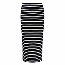 Pure Collection Jersey Tube Skirt Navy/White Size UK 8 LF075 BB 03