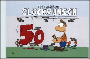 Gluckwunsch 50 Geburtstag Karikatur Karrich Postkarte Ungelaufen