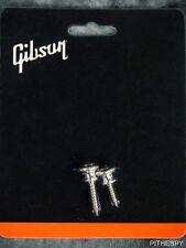 NEW GENUINE GIBSON GUITAR ALUMINUM STRAP BUTTONS SCREWS LES PAUL ES-335 175 SG