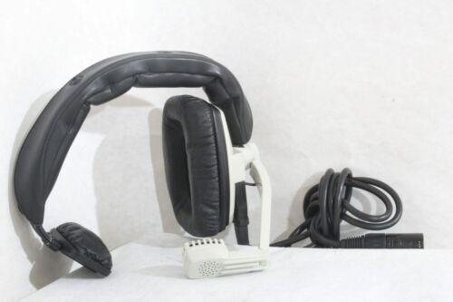 Creme and Black Beyerdynamic DT 108 Series Single Ear Headset w// Microphone