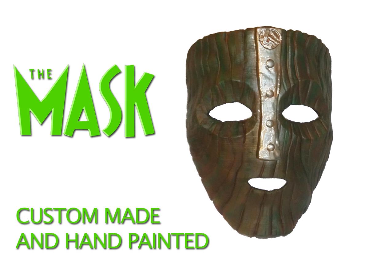 Loki's Mask - Jim Carrey's The Mask film - prop replica