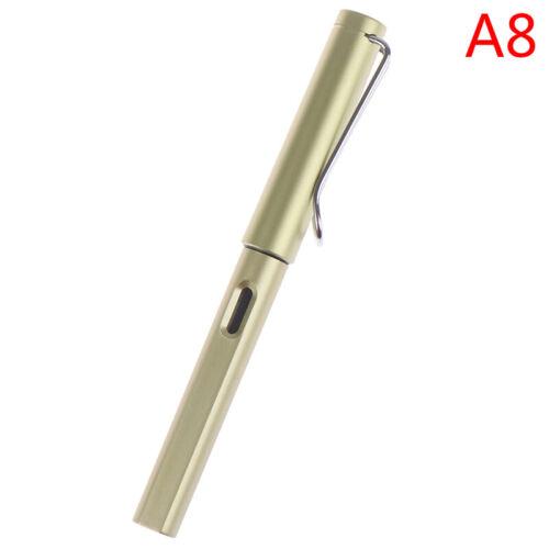 ZV Metal Texture Aluminum Alloy Fountain Pen Extra Fine Nib 0