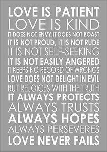 love is patient love is kind 1 corinthians 13 4 popular