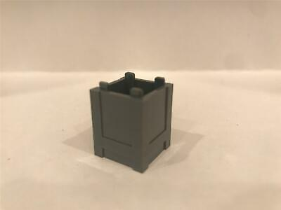 CONTAINER 61780 Box 2 x 2 x 2 LEGO Dark Blueish Grey x 2 Top Open
