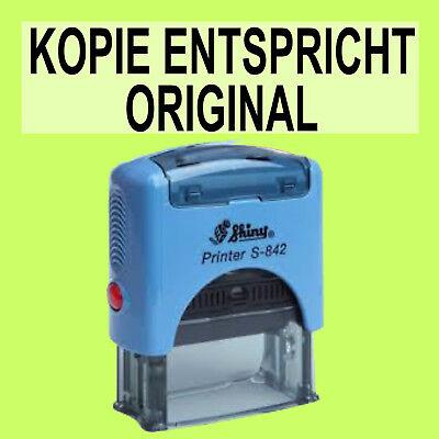 SchöN Kopie Entspricht Origina Shiny Printer Blau S-842 Büro Stempel Kissen Schwarz Um Der Bequemlichkeit Des Volkes Zu Entsprechen