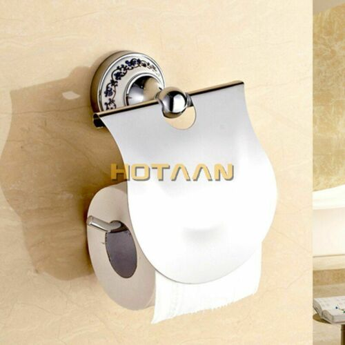 Stainless Steel Ceramic Bathroom Accessories Paper Holder Towel Bar Soap Basket