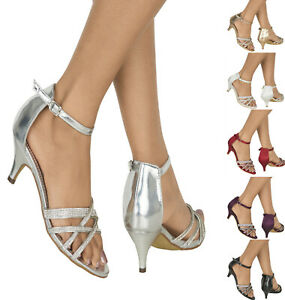 WOMENS-DIAMANTE-DETAIL-MID-LOW-HEEL-STRAPPY-EVENING-PARTY-PROM-SHOES-SIZES-3-8