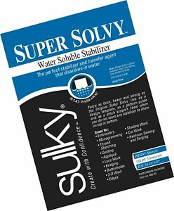 Sulky 19 1//2 x 36-inch Medium Weight Super Solvy Water Soluble Stabilizer