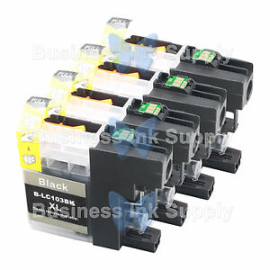 4-BLACK-LC103XL-HIGH-YIELD-LC103-Ink-Cartridge-VERSION-3-Chip-for-BROTHER