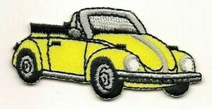 Yellow Convertible Beetle Vehicle Car Embroidered Patch