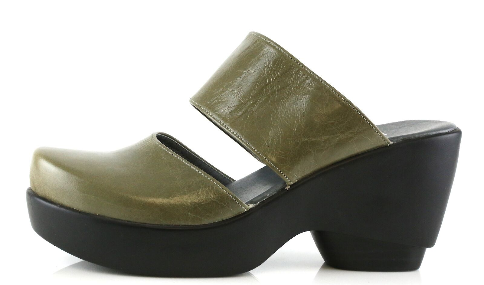 Antelope Woman's Olive Green Wedge Sandals 8836 Size 41 EU NEW