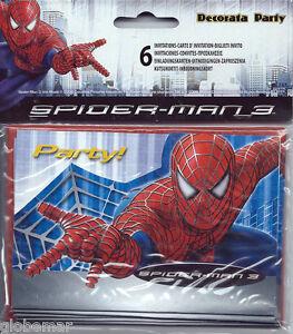 6 Cartes Invitation Anniversaire Spiderman Ebay