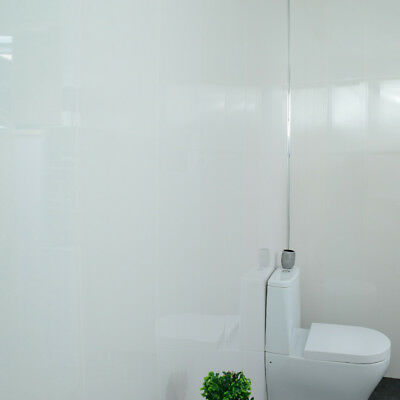 Glossy White Gloss Bathroom Cladding PVC Shower Ceiling ...