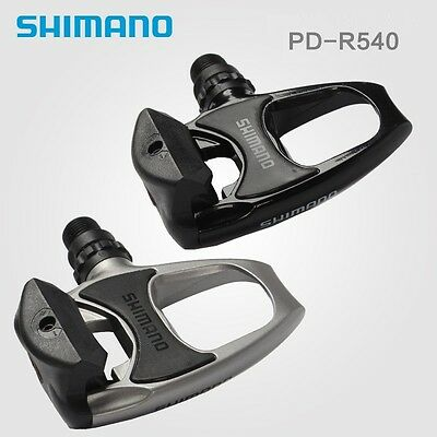 Road Bike Shimano PD R540 SPD SL Lock Pedal Clipless Pedals With Float Cleats