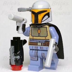 Star-Wars-LEGO-Mandalorian-Female-Tribe-Warrior-Grey-Minifigure-75267-Genuine