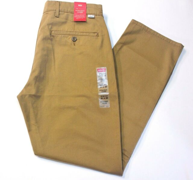 bf697321 New Men Levi's Caraway/Carmel Straight leg Fit Stretch Chino Pants - 98%  Cotton