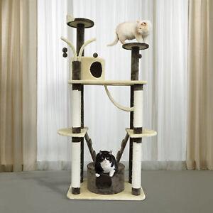 "71"" Multilevel Cat Scratching Tree Kitten House Pet Play Center Tower ladder"