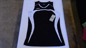 71189b8c767 ASICS Women's Ace Sleeveless Volleyball Jersey Navy Blue White Pro ...